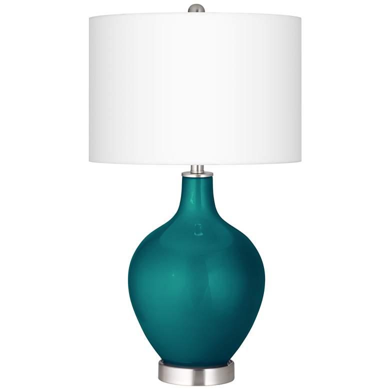 Magic Blue Metallic Ovo Table Lamp