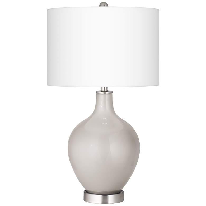 Silver Lining Metallic Ovo Table Lamp