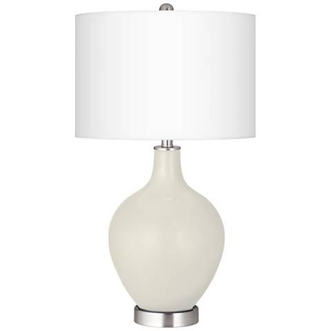 Vanilla Metallic Ovo Table Lamp