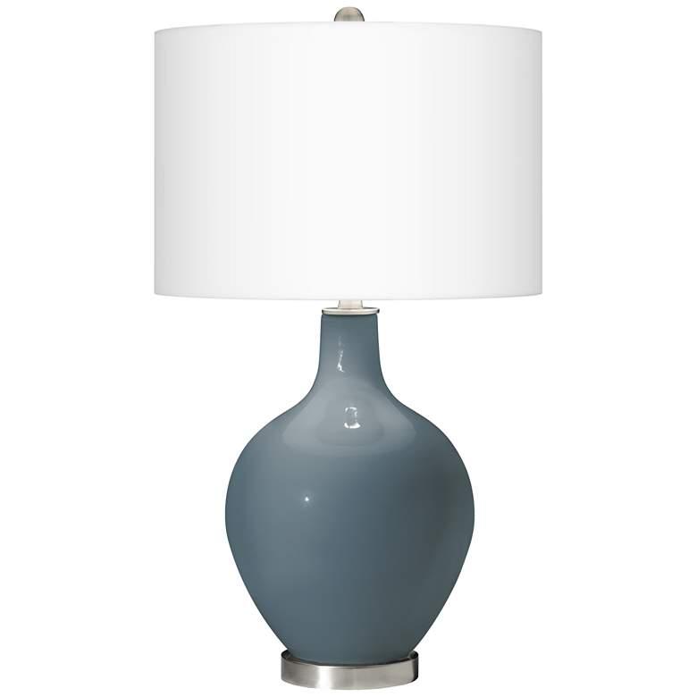 Smoky Blue Ovo Table Lamp
