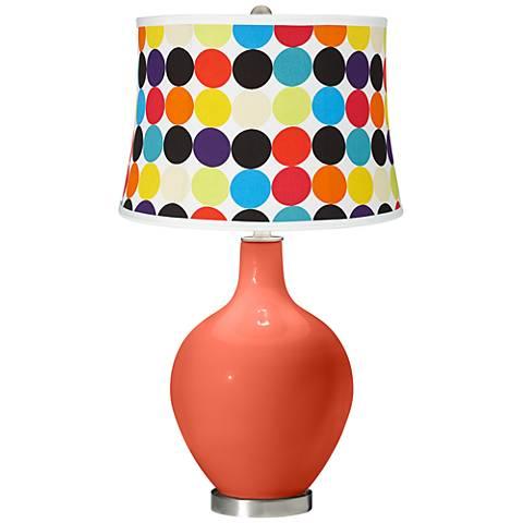 Daring Orange Multi Mod Circles Shade Ovo Table Lamp