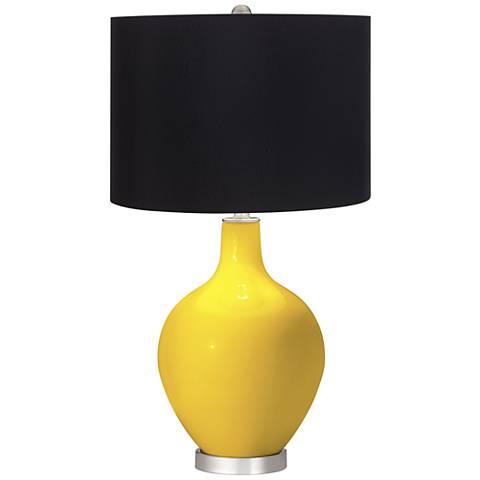Citrus Black Shade Ovo Table Lamp