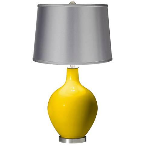 Citrus - Satin Light Gray Shade Ovo Table Lamp