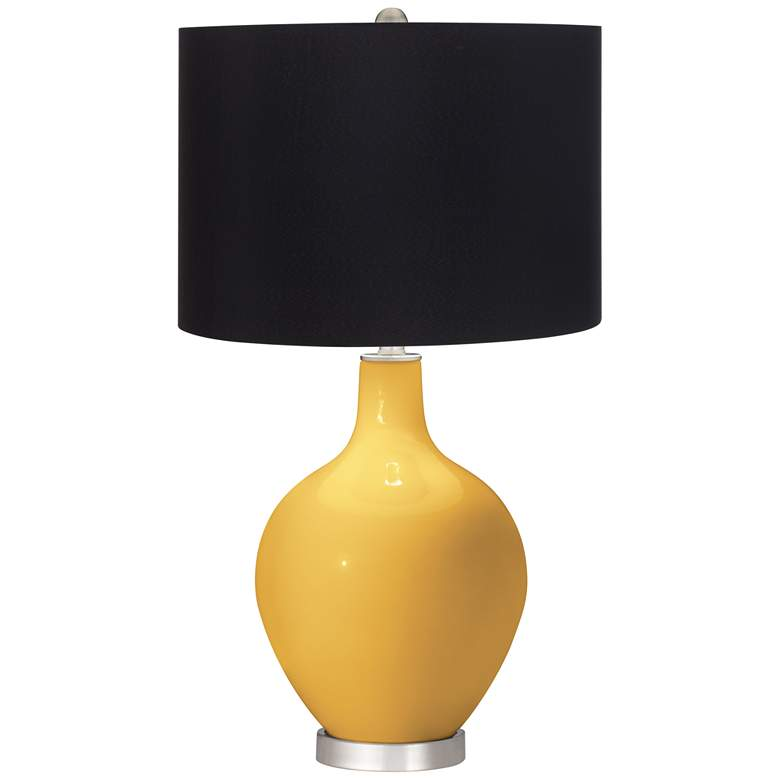 Goldenrod Black Shade Ovo Table Lamp