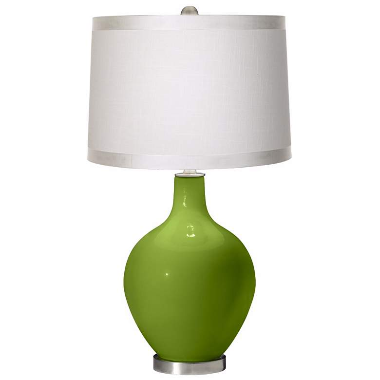 Gecko White Drum Shade Ovo Table Lamp
