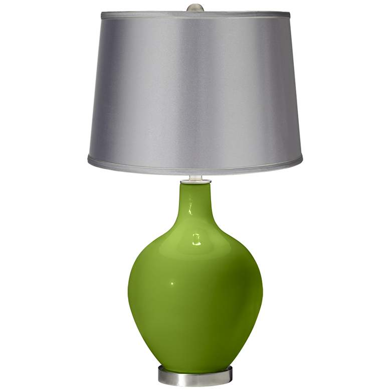 Gecko - Satin Light Gray Shade Ovo Table Lamp