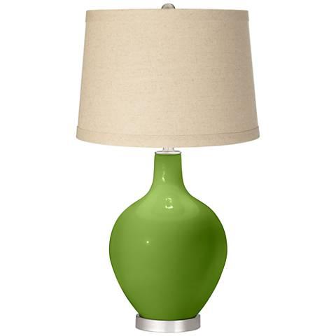 Gecko Oatmeal Linen Shade Ovo Table Lamp
