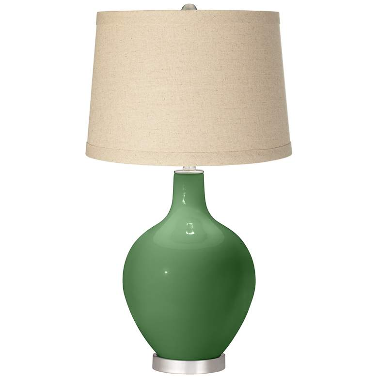 Garden Grove Oatmeal Linen Shade Ovo Table Lamp