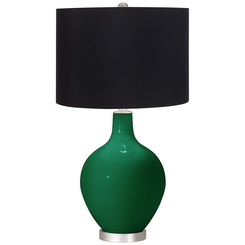 Greens Black Shade Ovo Table Lamp