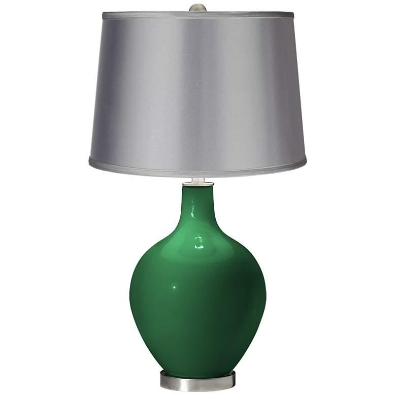 Greens - Satin Light Gray Shade Ovo Table Lamp