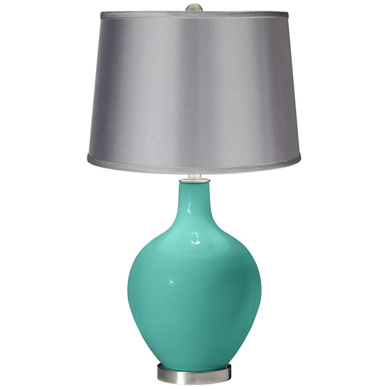 Synergy - Satin Light Gray Shade Ovo Table Lamp