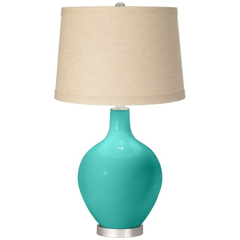 Synergy Oatmeal Linen Shade Ovo Table Lamp