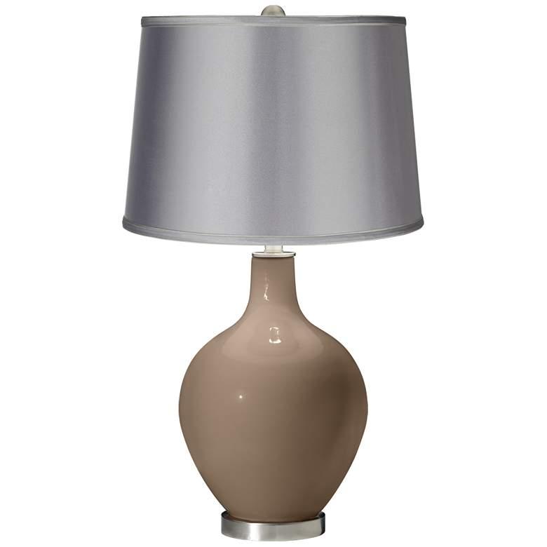 Mocha - Satin Light Gray Shade Ovo Table Lamp