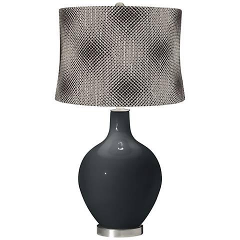 Black of Night Black Pixels Shade Ovo Table Lamp