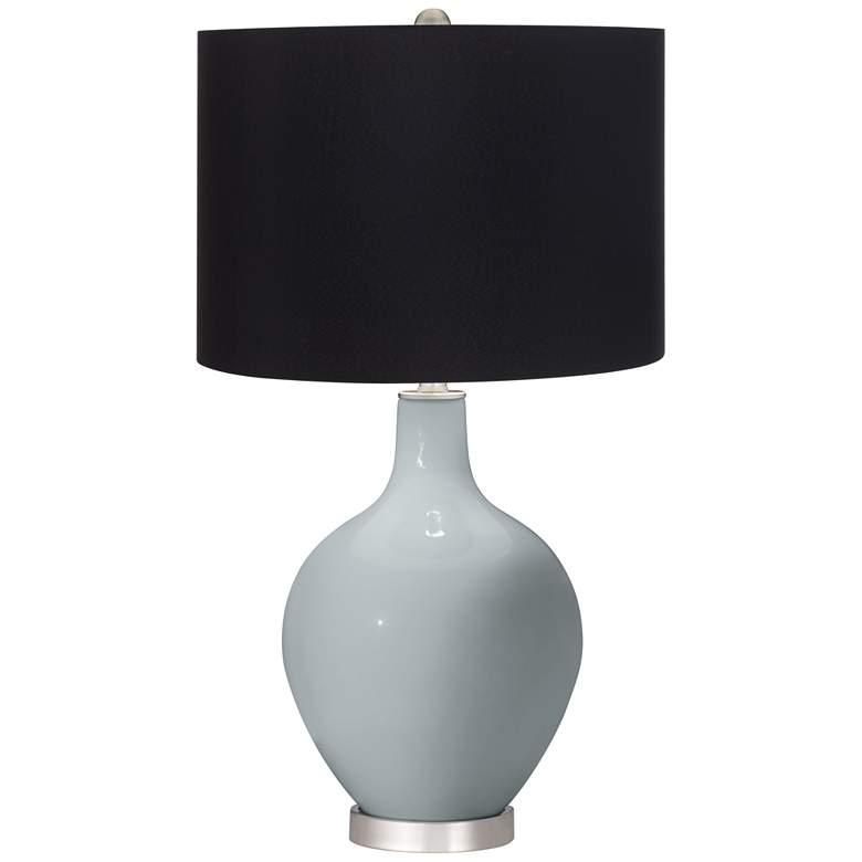 Uncertain Gray Black Shade Ovo Table Lamp