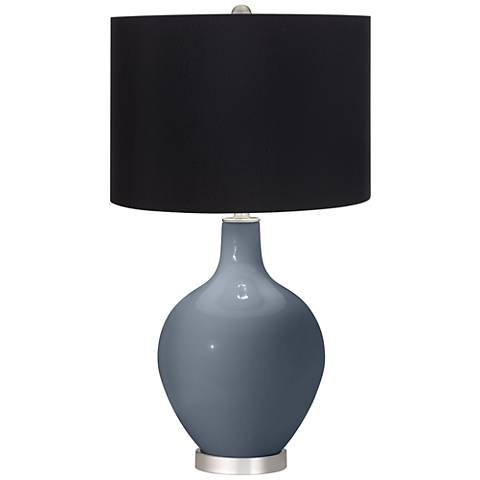 Granite Peak Black Shade Ovo Table Lamp