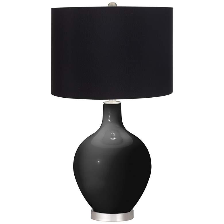 Tricorn Black Black Shade Ovo Table Lamp