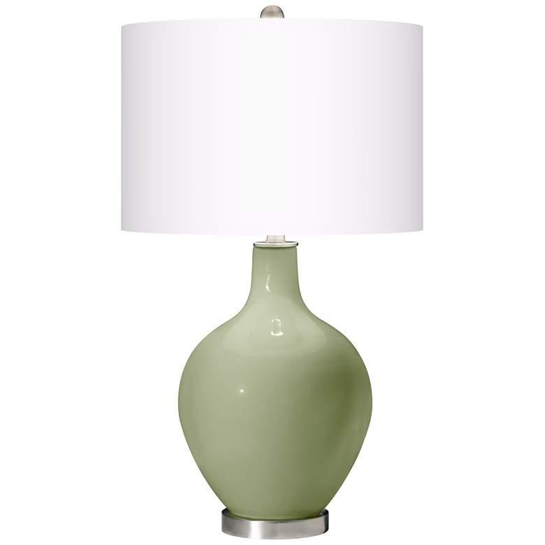 Majolica Green Ovo Table Lamp