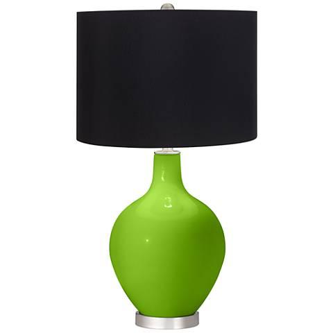 Neon Green Black Shade Ovo Table Lamp