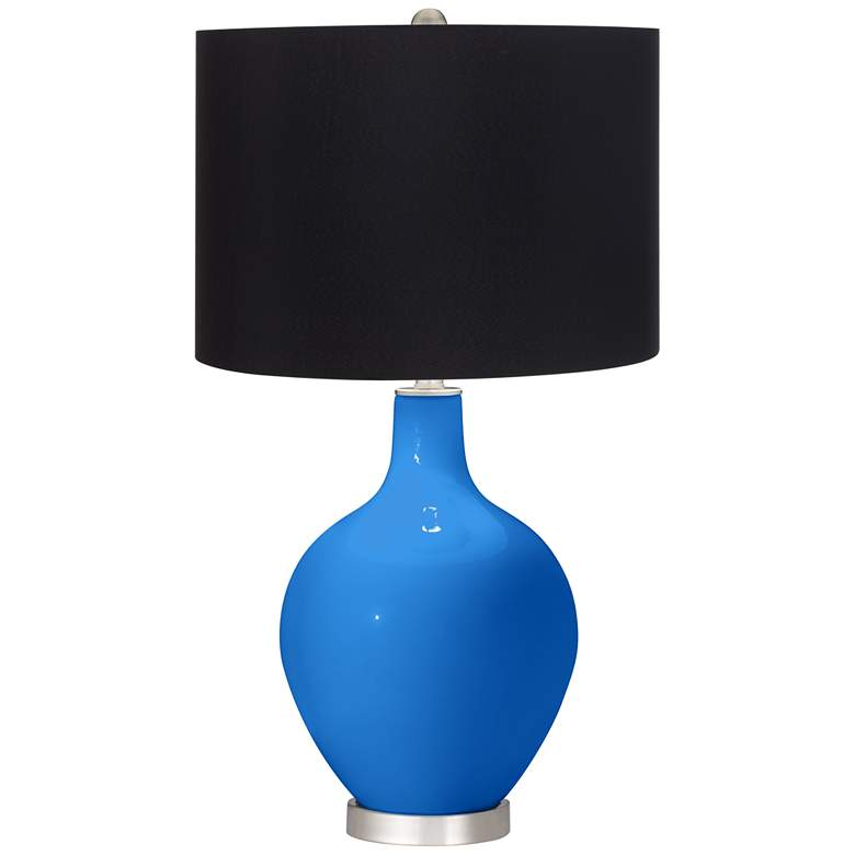 Royal Blue Black Shade Ovo Table Lamp