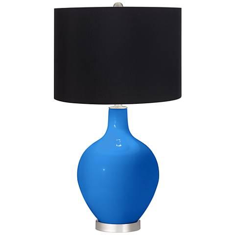 Royal Blue Black Shade Ovo Table Lamp