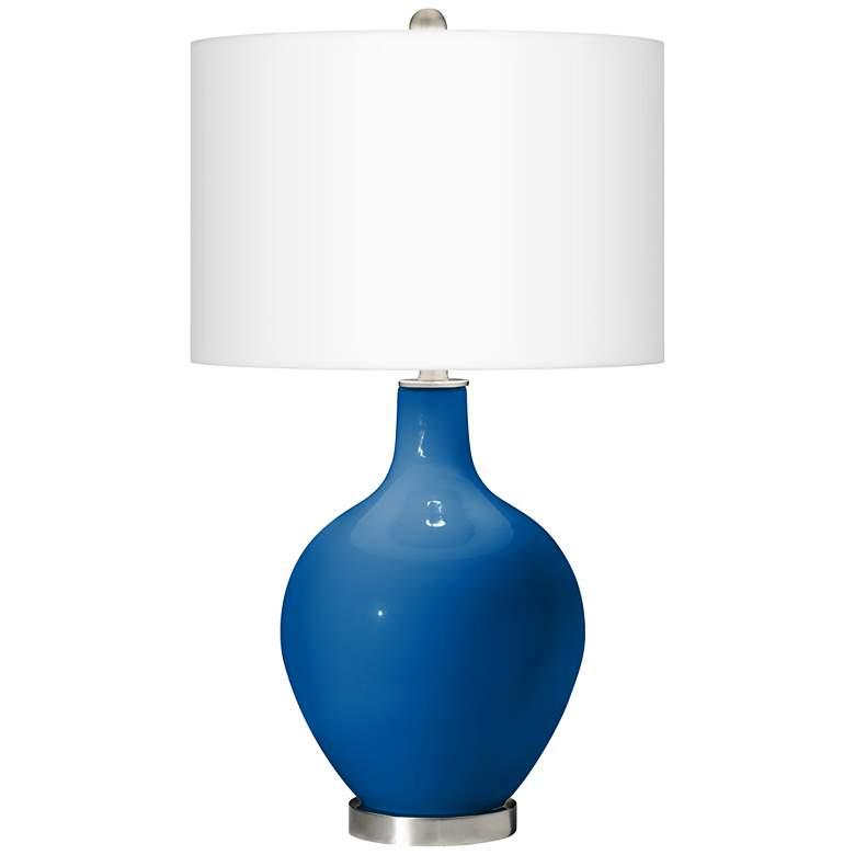 Hyper Blue Ovo Table Lamp