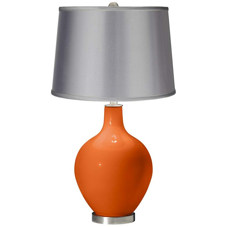 Invigorate - Satin Light Gray Shade Ovo Table Lamp