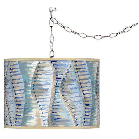 Siren Giclee Glow Plug-In Swag Pendant