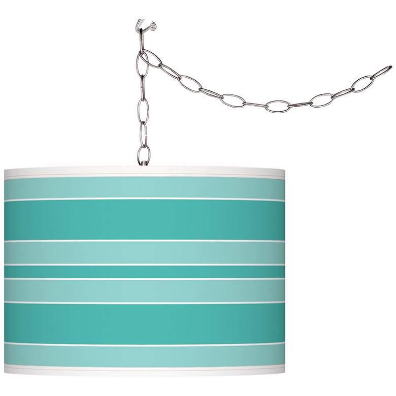 Synergy Bold Stripe Giclee Glow Plug-In Swag Pendant