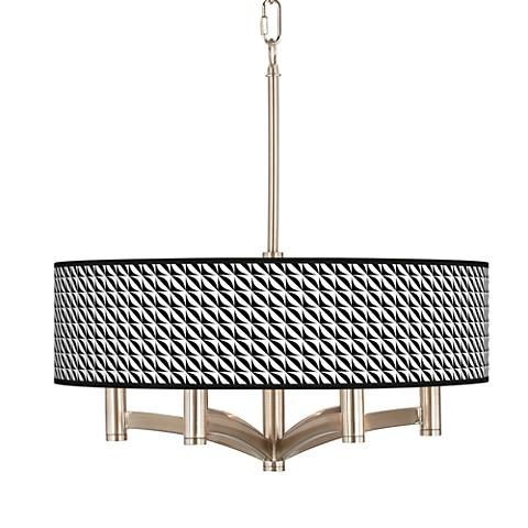 Waves Ava 6-Light Nickel Pendant Chandelier