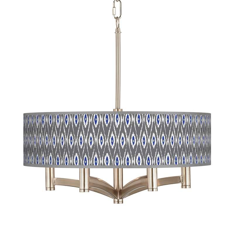 American Ikat Ava 6-Light Nickel Pendant Chandelier