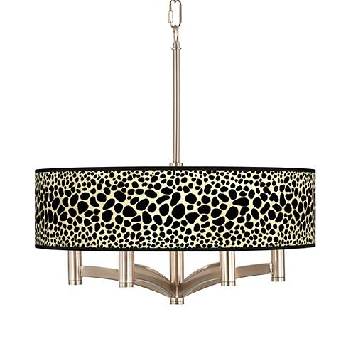 Leopard Ava 6-Light Nickel Pendant Chandelier