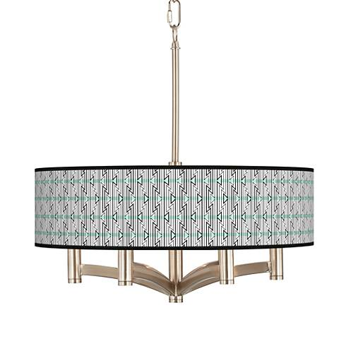 Indigenous Ava 6-Light Nickel Pendant Chandelier