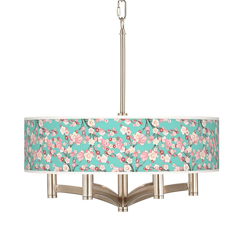 Cherry Blossoms Ava 6-Light Nickel Pendant Chandelier