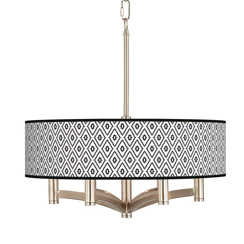 Black Diamonds Ava 6-Light Nickel Pendant Chandelier