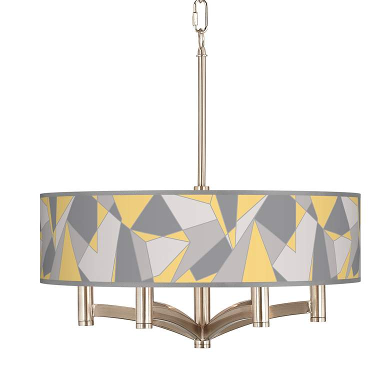 Modern Mosaic II Ava 6-Light Nickel Pendant Chandelier