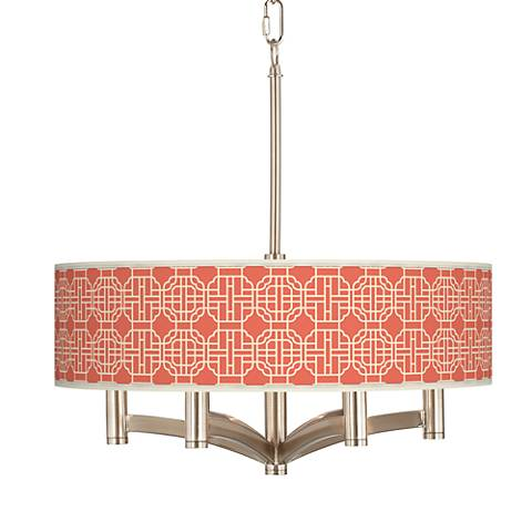Mandarin Ava 6-Light Nickel Pendant Chandelier