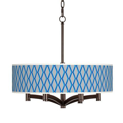 Bleu Matrix Ava 6-Light Bronze Pendant Chandelier