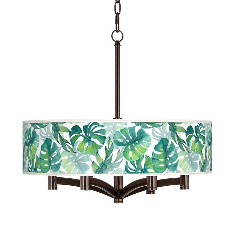 Tropica Ava 6-Light Bronze Pendant Chandelier
