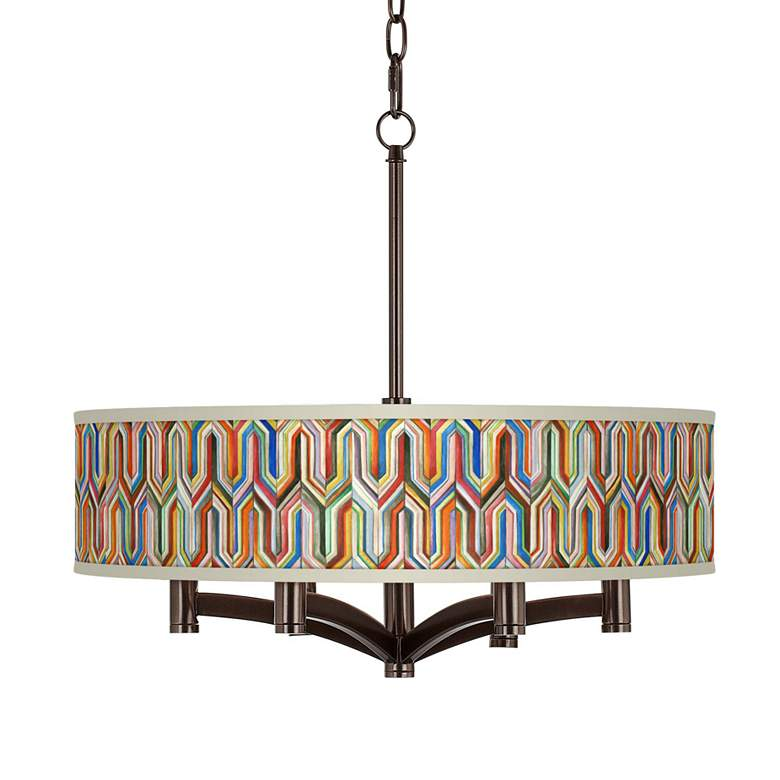 Synthesis Ava 6-Light Bronze Pendant Chandelier