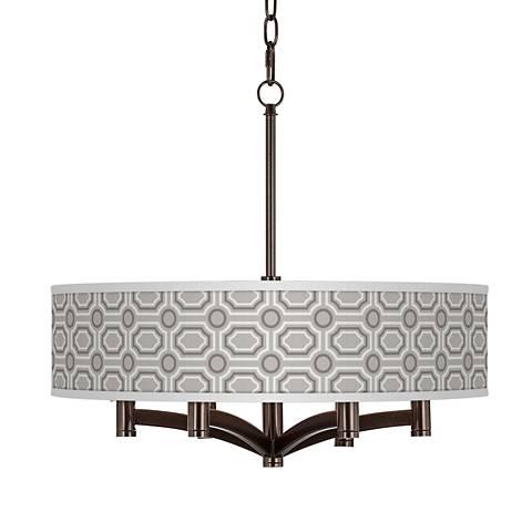 Luxe Tile Ava 6-Light Bronze Pendant Chandelier