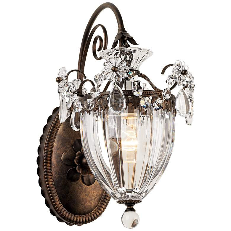 "Schonbek Bagatelle Collection 13"" High Crystal Wall Sconce"
