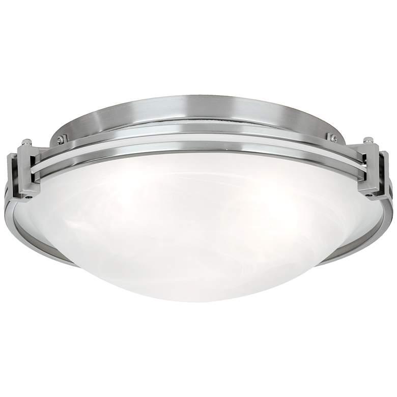 """Possini Euro Design Nickel 16 3/4"""" Wide Ceiling Fixture"""