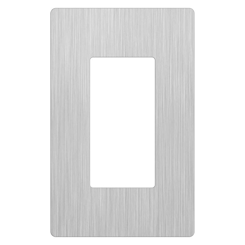 Lutron Claro 1 Gang Stainless Steel Screwless Faceplate