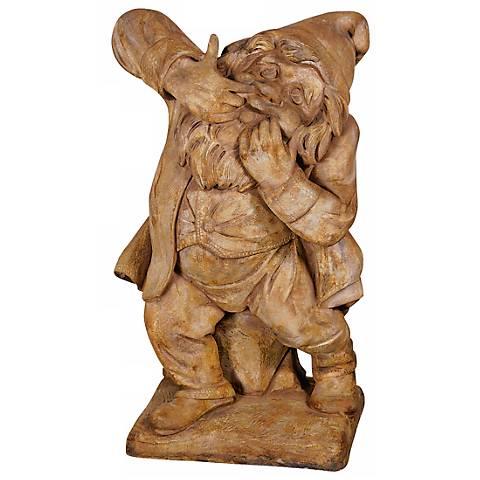 """Henri Studio Prankster Gnome 24""""H Cast Stone Garden Accent"""
