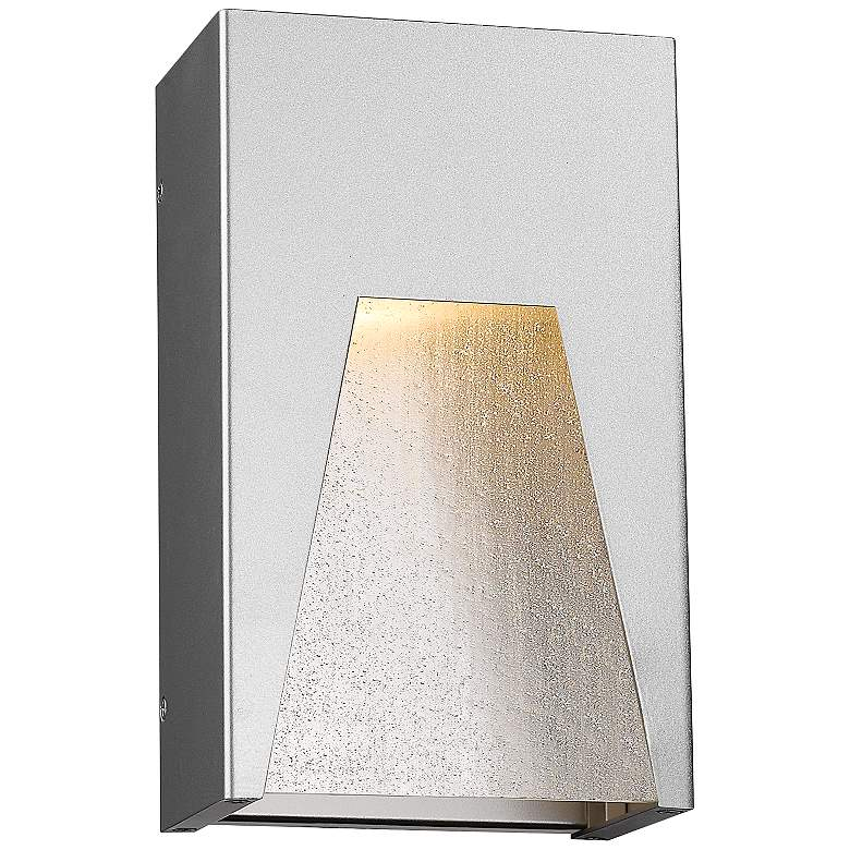 "Millenial 10"" High Silver LED Outdoor Wall Light"