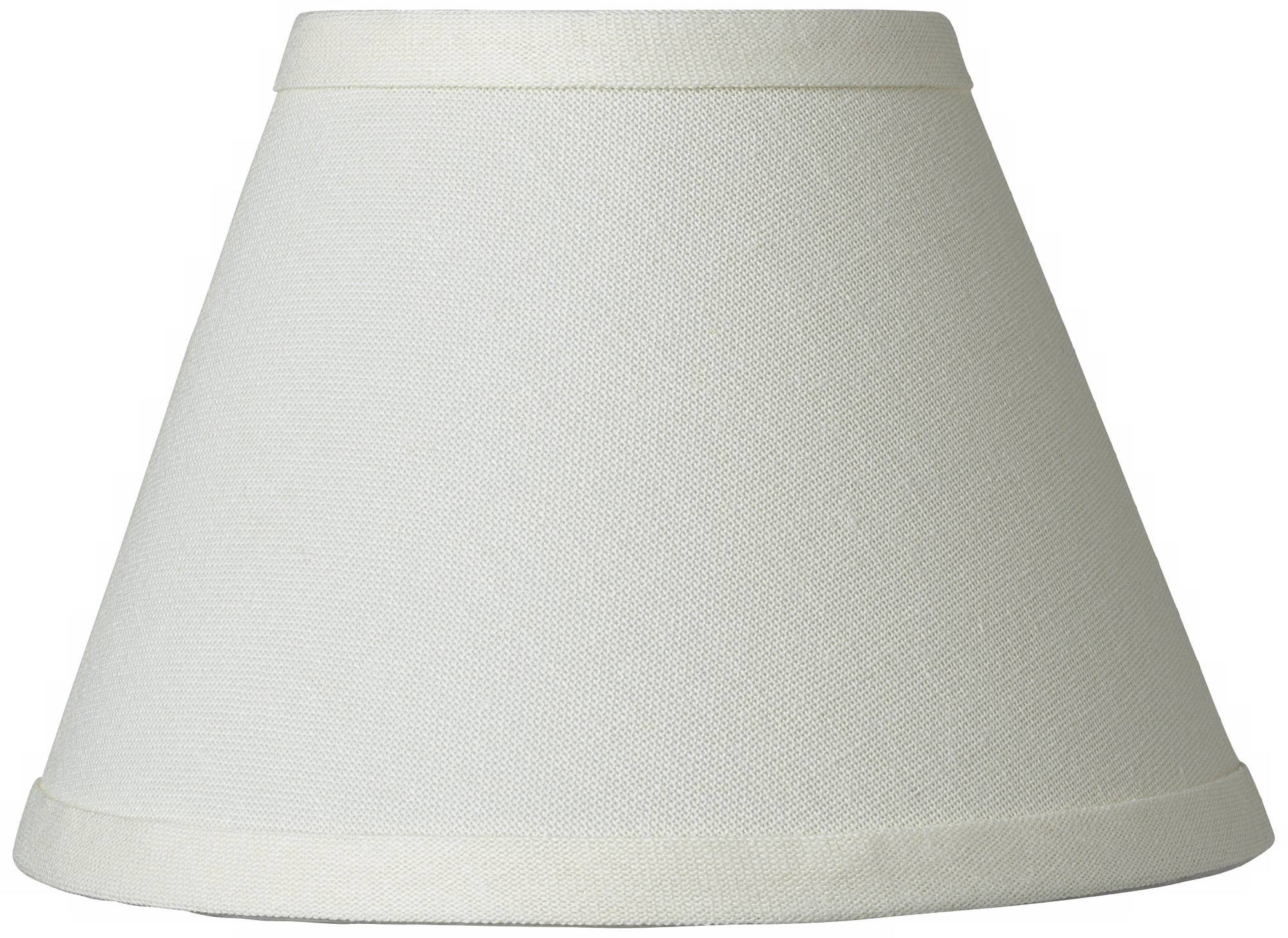 Cream chandelier lamp shade 3 5x7x5 clip on
