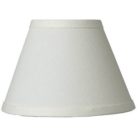 Cream Chandelier Lamp Shade 3.5x7x5 (Clip-On)