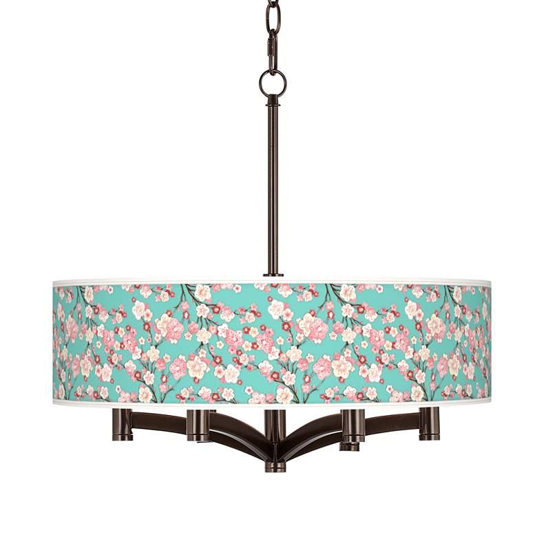 Cherry Blossoms Ava 6-Light Bronze Pendant Chandelier