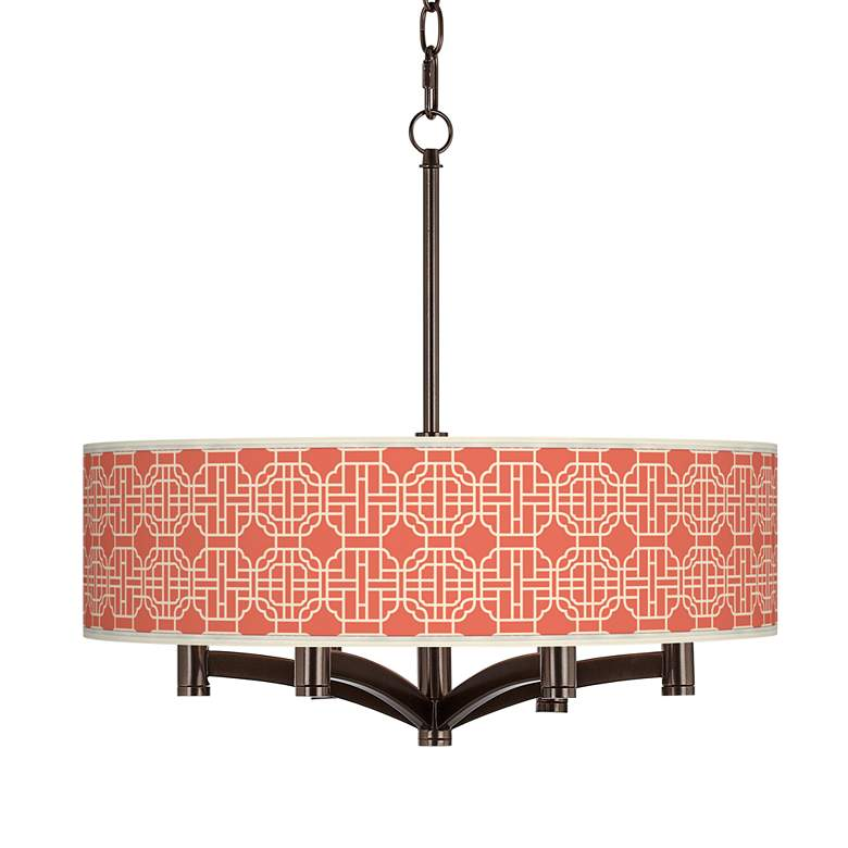 Mandarin Ava 6-Light Bronze Pendant Chandelier